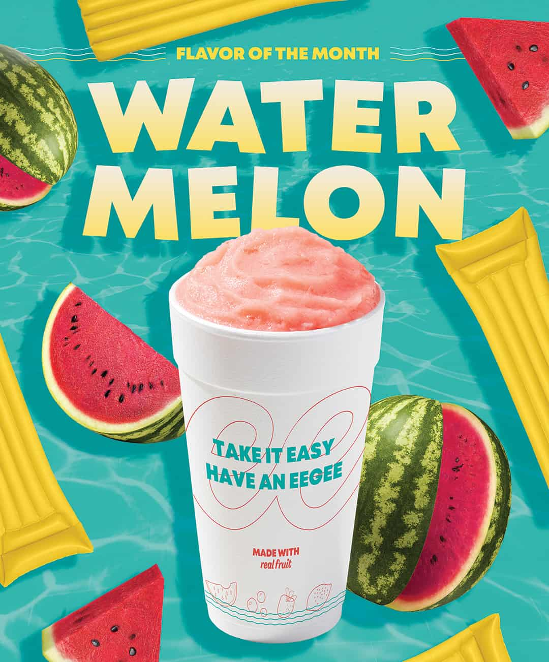 Monthly Restaurant Marketing & Advertising - Watermelon eegee