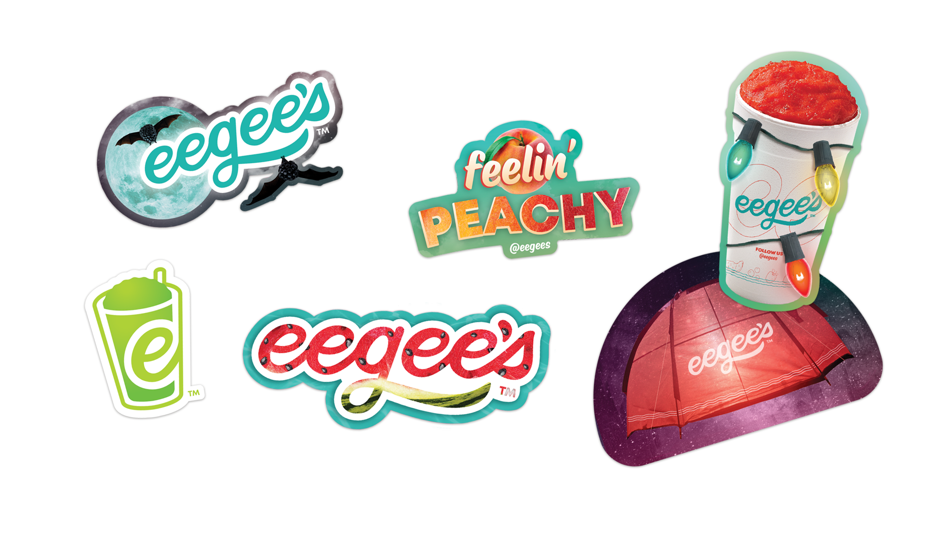 eegee's flavor of the month sticker designs