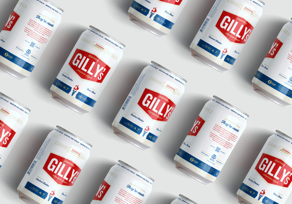 Gilly's beer branding and package design by Vigor