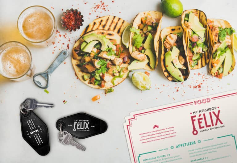 My Neighbor Felix Mexican restaurant branding and concept development by Vigor