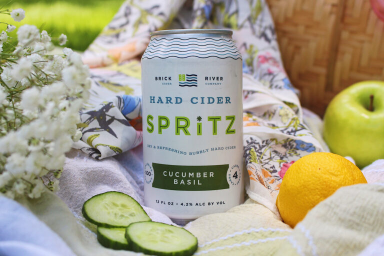 Brick River Cider Co Hard Cider Spritz branding and packaging design